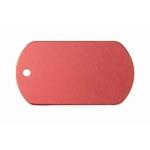 Gravírozható biléta alu dögc dögcédula 50x29 mm piros (122255)