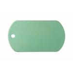 Gravírozható biléta alu dögc dögcédula 50x29 mm zöld (122257)