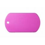 Gravírozható biléta alu dögc dögcédula 50x29 mm rózsaszín/pink (122258)