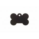 Gravírozható biléta alu csont kutyacsont kicsi 21x31 fekete (122205)