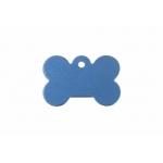 Gravírozható biléta alu csont kutyacsont kicsi 21x31 kék (122206)