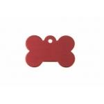Gravírozható biléta alu csont kutyacsont kicsi 21x31 piros (122207)