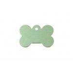 Gravírozható biléta alu csont kutyacsont kicsi 21x31 zöld (122209)
