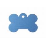 Gravírozható biléta alu csont kutyacsont nagy 40x28 kék (122198)