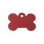 Gravírozható biléta alu csont kutyacsont nagy 40x28 piros (122199)
