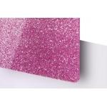 TroGlitter 3,0 mm Plexi Fényes Csillámos Rózsaszín Akril lemez 610 x 1030 mm