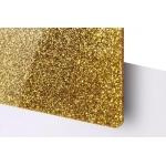 TroGlitter 3,0 mm Plexi Fényes Csillámos Arany akril lemez 610 x 1030 mm