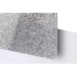 TroGlitter 3,0 mm Plexi Fényes Csillámos Ezüst Akril lemez 610 x 1030 mm