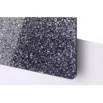 TroGlitter 3,0 mm Plexi Fényes Csillámos Fekete Akril lemez 610 x 1030 mm