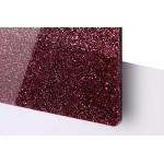 TroGlitter 3,0 mm Plexi Fényes Csillámos Sötét Piros akril lemez 610 x 1030 mm