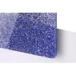 TroGlitter 3,0 mm Plexi Fényes Csillámos Kék Akril lemez 610 x 1030 mm