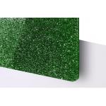 TroGlitter 3,0 mm Plexi Fényes Csillámos Zöld Akril lemez 610 x 1030 mm