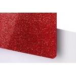 TroGlitter 3,0 mm Plexi Fényes Csillámos Piros Akril lemez 610 x 1030 mm