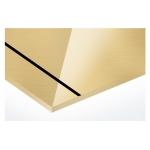 AlumaMark 0,5mm arany/fekete 508x305mm fényes, tükrös (AluFix) 47639