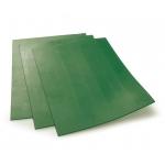 Lézergumi Eco 2,3 mm zöld A4 természetes anyagú, környezetbarát 50 ShA