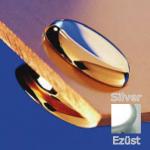Távtartó FISSO MINI ezüst hosszúság: 6 mm, átmérő: 15 mm FN1506AR