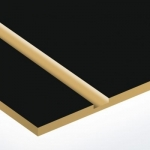 TroLase 1,6 mm Matt Fekete/Arany (2 réteg) 616 x 1245 mm / L417-206 (kültéri)