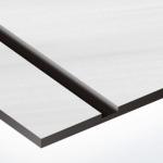 TroLase Metallic Plus 0,8 mm Szálhúzott Acél/Fekete (2 réteg) 616 x 1245 mm / LMT+314-203 (kültéri)