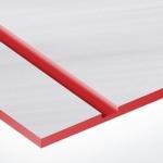 TroLase Metallic Plus 0,8 mm Szálhúzott Acél/Piros (2 réteg) 616 x 1245 mm / LMT+316-203 (kültéri)