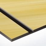 TroLase Metallic Plus 1,6 mm Szálhúzott Arany/Fekete (2 réteg) 616 x 1245 mm / LMT+764-206 (kültéri)