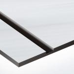 TroLase Metallic 1,6 mm Szálhúzott Alu/Fekete (2 réteg) 616 x 1245 mm / LMT354-206 (beltéri)