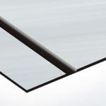 TroLase Thins 0,5 mm Szálhúzott Ezüst/Fekete (2 réteg) 614 x 1245 mm / LT334-202 (beltéri)