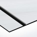 TroLase Thins 0,5 mm Szálhúzott Alu/Fekete (2 réteg) 614 x 1245 mm / LT354-202 (beltéri)