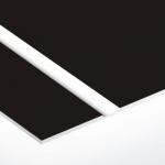 TroLase Thins 0,5 mm Fekete/Fehér (2 réteg) 614 x 1245 mm / LT402-202 (beltéri)