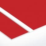 TroLase Thins 0,5 mm Piros/Fehér (2 réteg) 614 x 1245 mm / LT602-202 (beltéri)