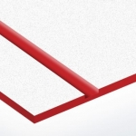 TroLase Textures 1,6 mm Fehér/Piros (2 réteg) 616 x 1245 mm / LTX246-206 (kültéri)