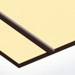 TroPly 0,8 mm Törtfehér/Sötétbarna (2 réteg) 616 x 1245 mm / P228-203 (beltéri)