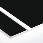 TroPly 0,8 mm Fekete/Fehér (2 réteg) 616 x 1245 mm / P402-203 (beltéri)