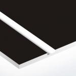 TroPly 0,8 mm Fekete/Fényes Fehér (2 réteg) 616 x 1245 mm / P412-203 (beltéri)