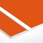 TroPly 0,8 mm Narancs/Fehér (2 réteg) 616 x 1245 mm / P612-203 (beltéri)