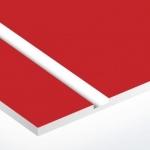 TroPly 0,8 mm Piros/Fényes Fehér (2 réteg) 616 x 1245 mm / P642-203 (beltéri)