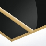 TroPly HiGloss 1,6 mm Fekete/Arany (2 réteg) 610 x 1238 mm / PH417-206 (kültéri)