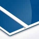 TroPly HiGloss 1,6 mm Kék/Fehér/Kék (3 réteg) 610 x 1238 mm / PH512-306 (kültéri)