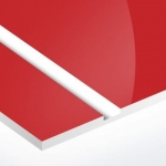 TroPly HiGloss 1,6 mm Piros/Fehér (2 réteg) 610 x 1238 mm / PH602-206 (kültéri)