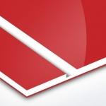 TroPly HiGloss 1,6 mm Piros/Fehér/Piros (3 réteg) 610 x 1238 mm / PH602-306 (kültéri)