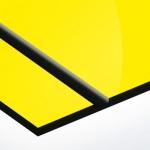 TroPly HiGloss 1,6 mm Sárga/Fekete (2 réteg) 610 x 1238 mm / PH704-206 (kültéri)