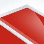 TroPly HiGloss Reverse 1,6 mm Víztiszta/Piros (2 réteg) 610 x 1238 mm / PHR600-206 (kültéri)