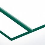 TroPly Satins 1,6 mm Fehér/Zöld (2 réteg) 610 x 1238 mm / PS209-206 (beltéri)