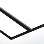 TroPly Satins 1,6 mm Hófehér/Fekete (2 réteg) 610 x 1238 mm / PS234-206 (beltéri)
