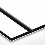 TroPly Satins 1,6 mm Fehér/Fekete/Fehér (3 réteg) 610 x 1238 mm / PS234-306 (beltéri)