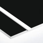 TroPly Satins 1,6 mm Fekete/Fehér (2 réteg) 610 x 1238 mm / PS402-206 (beltéri)