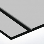 TroPly Ultra 1,6 mm Matt Ezüst/Fekete (2 réteg) 610 x 1238 mm / PU384-206 (kültéri)