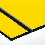 TroPly Ultra 1,6 mm Biztonsági Sárga/Fekete (2 réteg) 610 x 1238 mm / PU794-206 (kültéri)