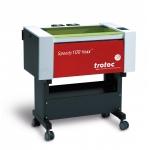 Trotec 8028 Speedy-100 flexx C40/F20 - 40W CO2 / 20W FIBER léghűtéses síkágyas lézergravírozó gép