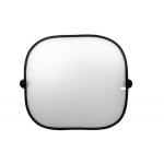 Autó fényvédő üvegre 430x390 mm fehér fekete szegéllyel