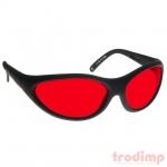 Lézer biztonsági szemüveg AL3 kék/zöld lézerekhez (180-540 nm) megfigyeléshez - #35 fekete/piros üv.